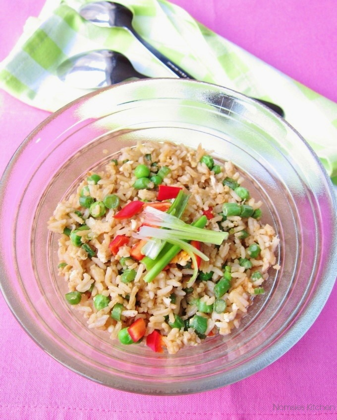 Vegetarian Fried Rice Recipe from Nomsies Kitchen