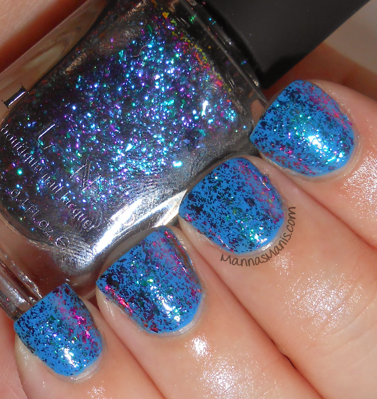 ILNP Luna, a multicolored flakie nail polish