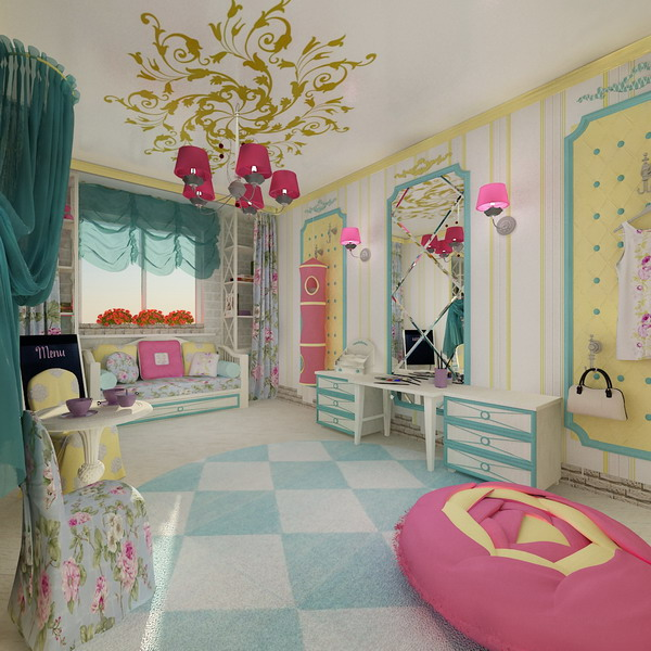 home exterior designs: bright interiors children's rooms and cool