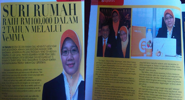 Keluar Majalah Lagi !! Aliza Ngah Rawi digelar Suri Rumah RM100,000
