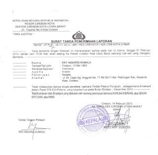 surat tanda laporan polisi