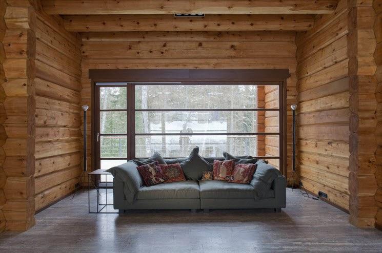 Dise o de casa de madera de tres pisos m s planos fachada - Casas de madera interiores ...