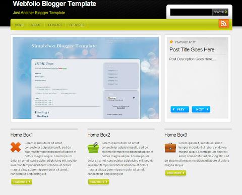 Webfolio Blogger Theme