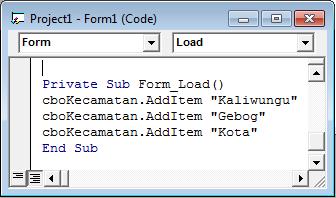 Cara membuat ComboBox bertingkat (VB 6.0)