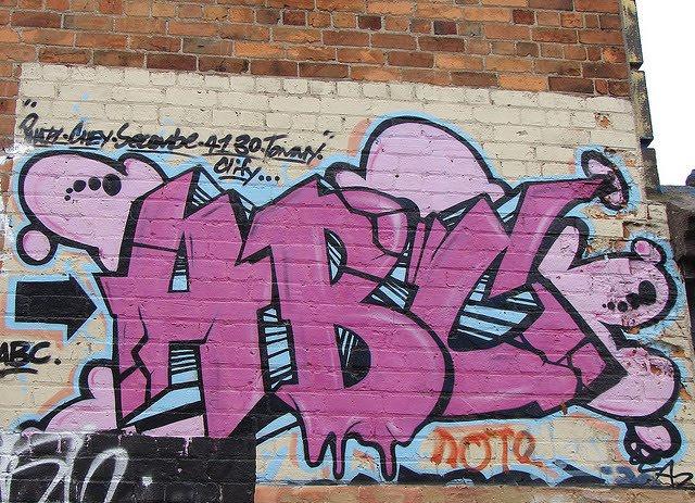 ABC Graffiti Letters Alphabet Pink