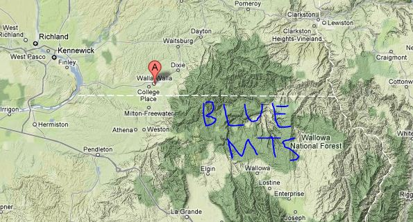 Blue Mountains Oregon Map MEMES