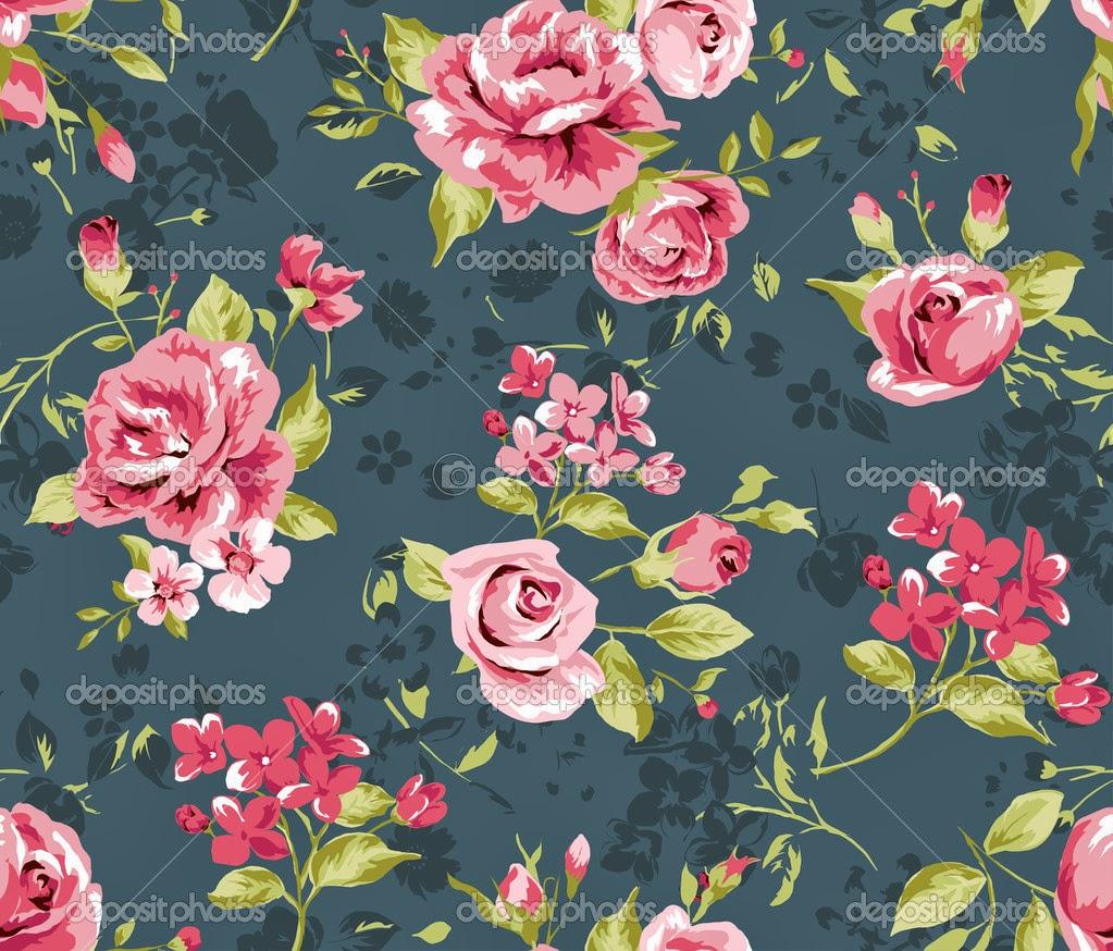 Classic Vintage Flower Pattern widescreen wallpaper (1023 x 874 )