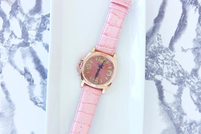 Glam Fab Happy custom made watch.Rucno radjen sat.Panerai rose gold case.Custom made female watch.Victorian ornate antique watch hands.Najlepsi zenski satovi.