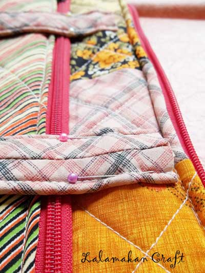 Making Patchwork Oranye Bag Part Two Finish Membuat Tas