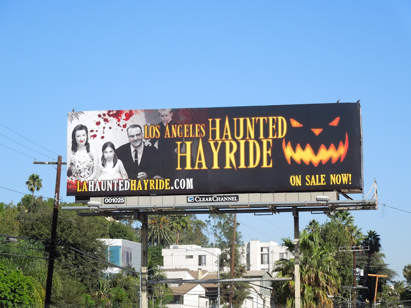 Los Angeles Haunted Hayride billboard 2012