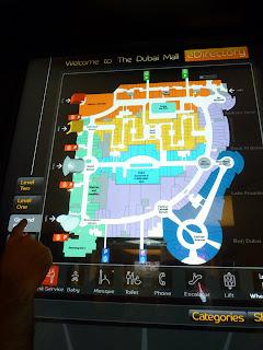 Paneles informativos Dubai Mall