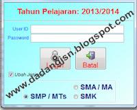 APLIKASI PENDATAAN UJIAN NASIONAL SMP/MTs/SMPT, SMA/MA, DAN SMK TA. 2013/2014 MULAI DIPROSES UNTUK PENDATAAN PESERTA UN 2014