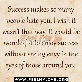 Success makes so many people hate you