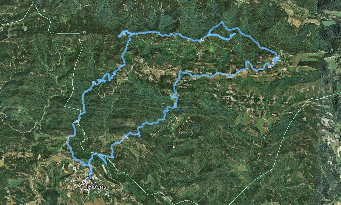 Recorregut: Alpens-Puig Cornador