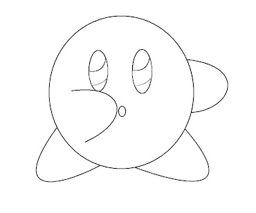 #18 Kirby Coloring Page