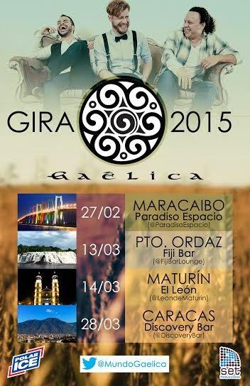 gaelica concierto venezuela gira maracaibo puerto ordaz discovery bar