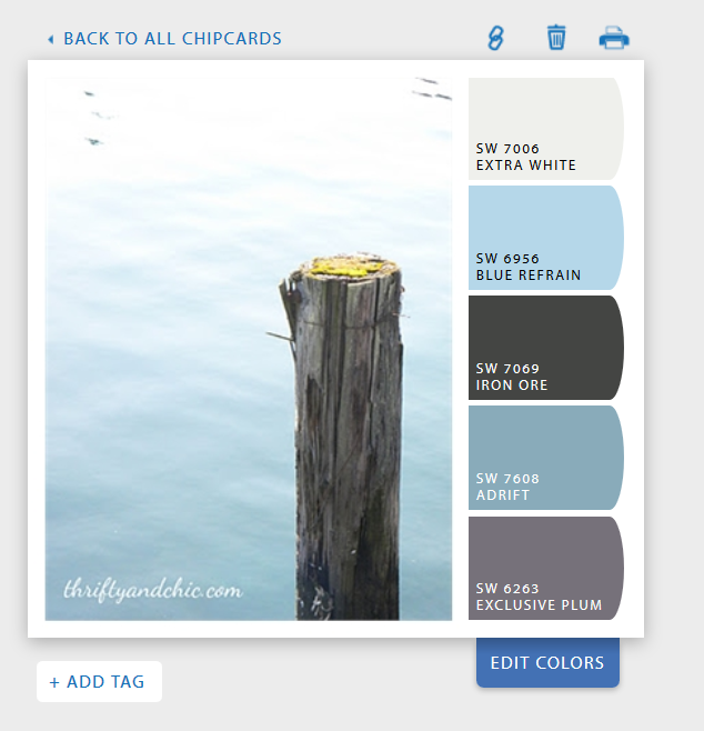 ChipIt by Sherwin-Williams via Thrifty and Chic