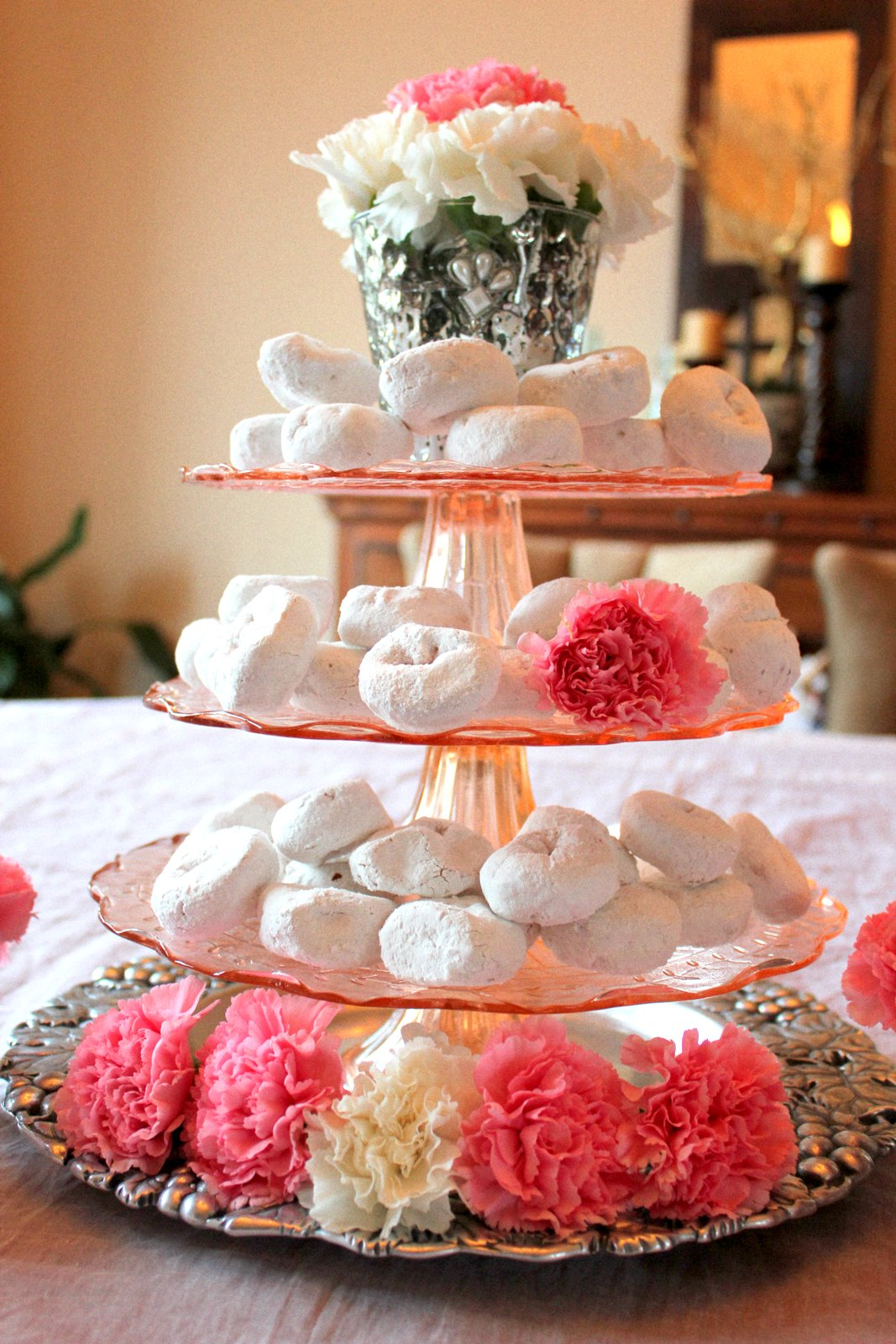 Swanky Chic Fete Donuts And Carnations A Valentine S