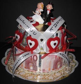 Geld-Torte zur Hochzeit