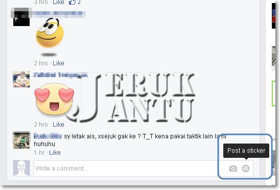 Cara Buat Komen Sticker di Facebook