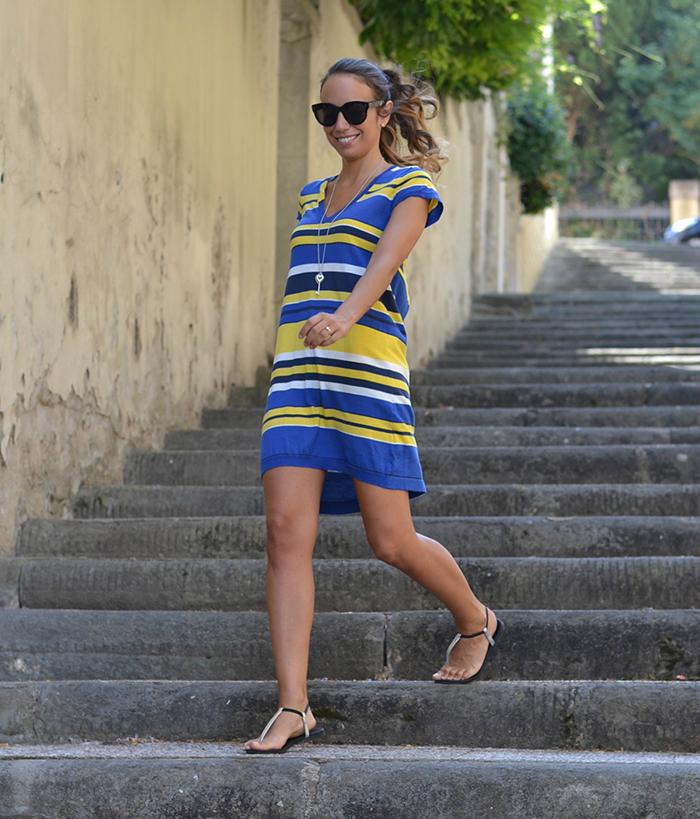abito giallo blu