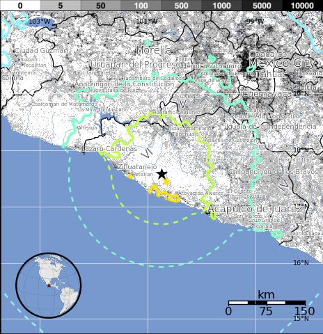 TERREMOTO DE 7,5 GRADOS EN MEXICO, 18 DE ABRIL 2014