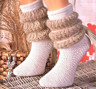 вязаные носки с буффами