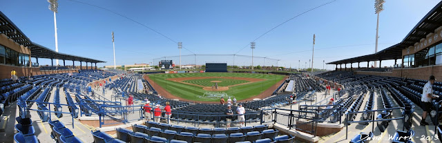 Peoria baseball stadium, arizona, panorama, seat view