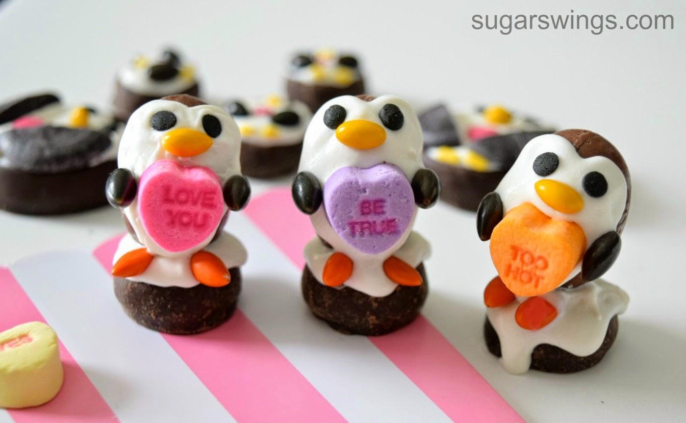 Penguin Valentines Day Candies