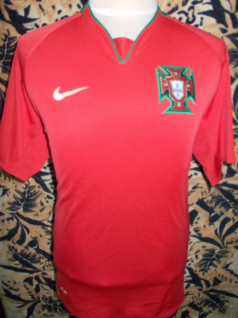 PORTUGAL HOME 2008-2009 JERSEY-RM 80-SIZE XL-MADE MEXICO