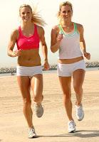 Jogging girls legs