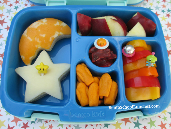 Space, moon, star, bento school lunch