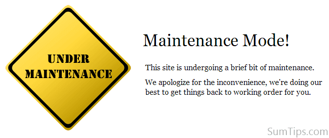 WordPress maintenance template