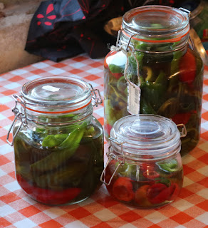 Pickled peppers I picked................
