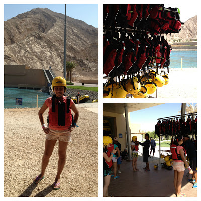 Wadi Adventure whitewater rafting preparation