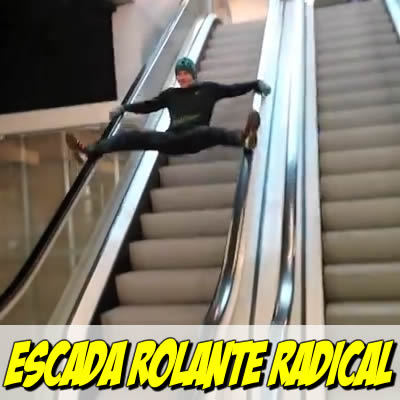 Escada Rolante radical e fail