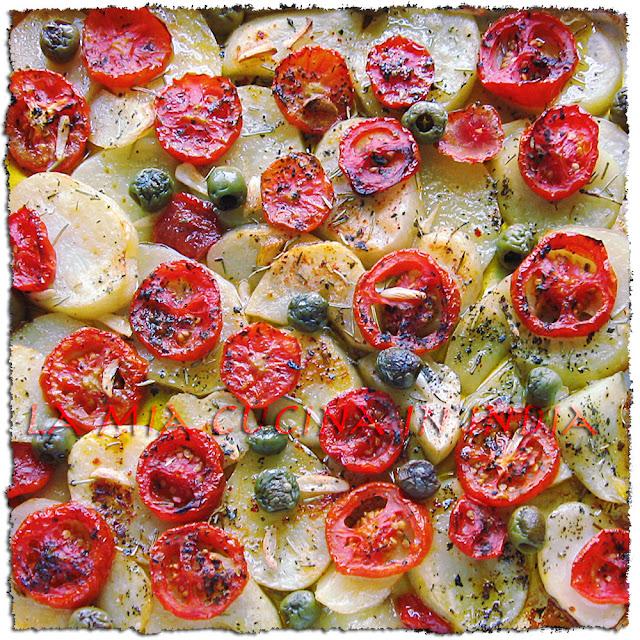 La mia cucina in India: Patate e pomodori al forno alla pizzaiola