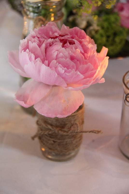 Small Milk Crates With Sweet Peas And Peonies