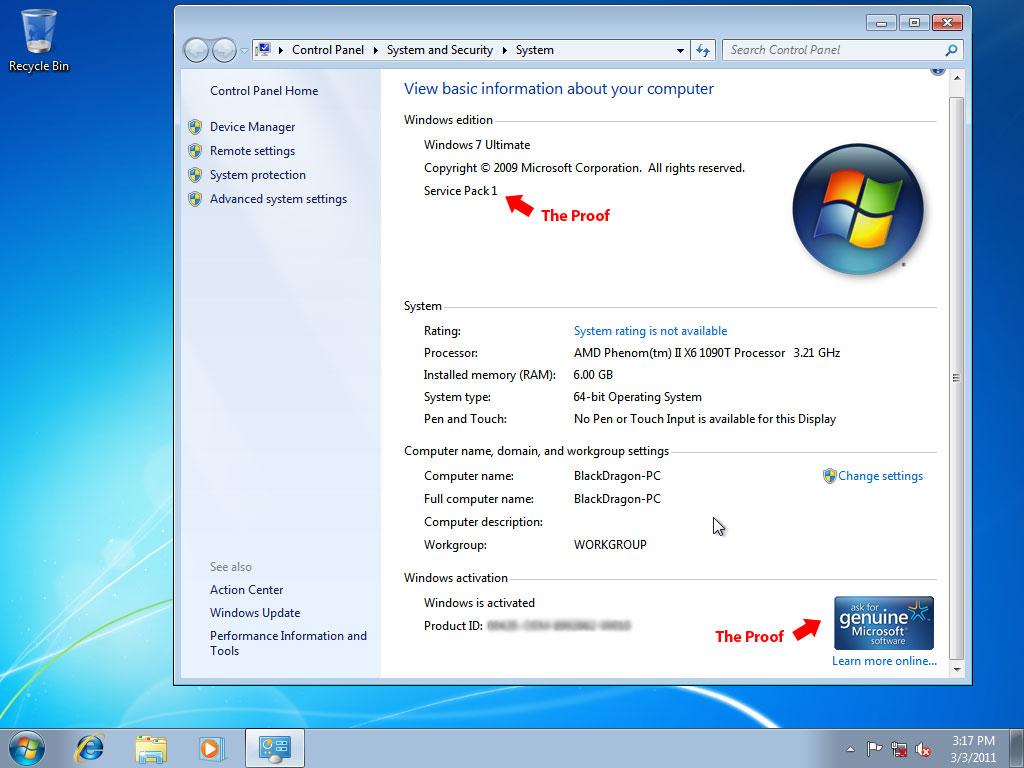 Windows 7 Ultimate 32-Bit Product Key