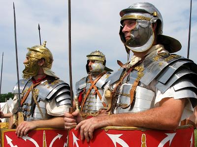 Armoured Roman legionaries