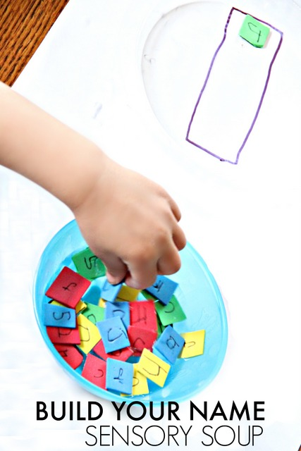 Build your name sensory soup activity