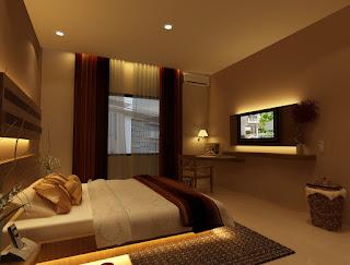 Contoh Desain Kamar Tidur Ruangan yang Sempit