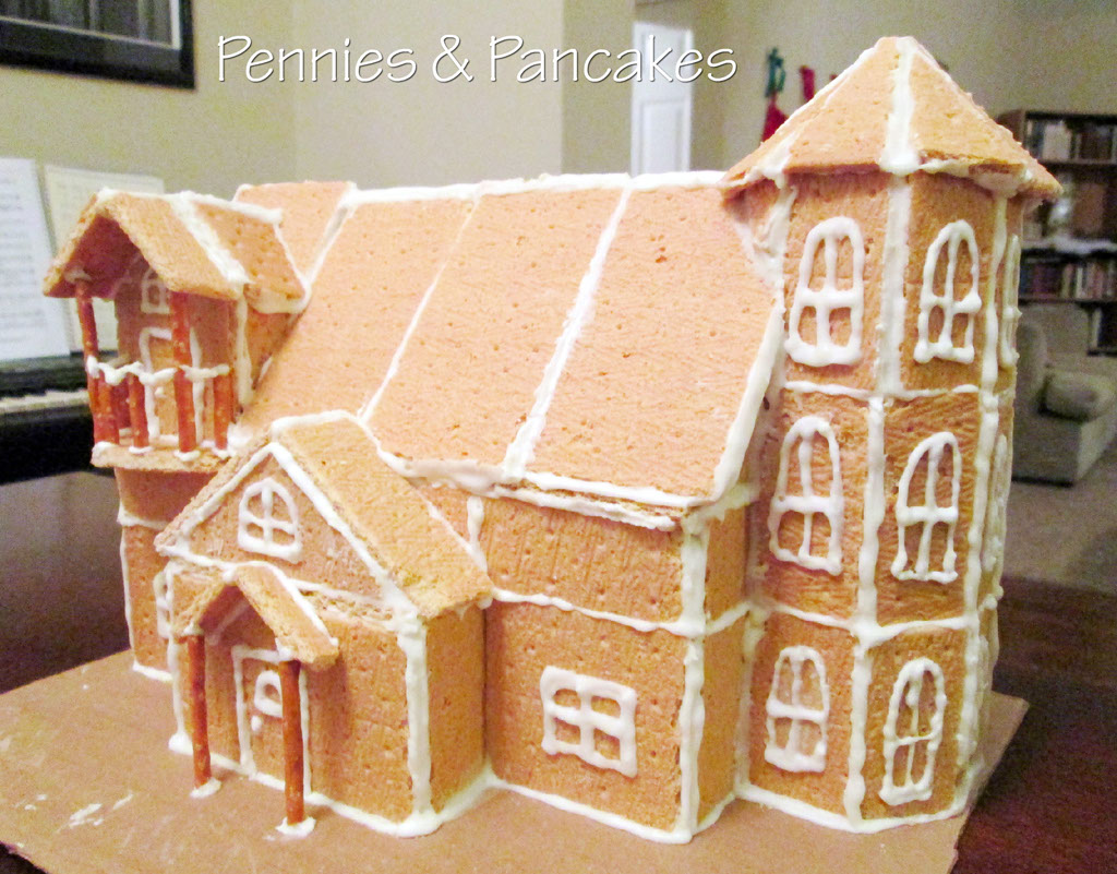 pennies pancakes gingerbread house glue per cup. Black Bedroom Furniture Sets. Home Design Ideas