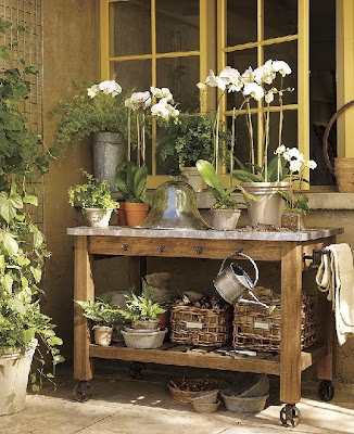Garden Potting Benches, Sinks and Tools