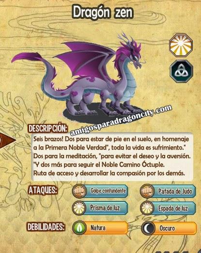 imagen de las caracteristicas del dragon zen