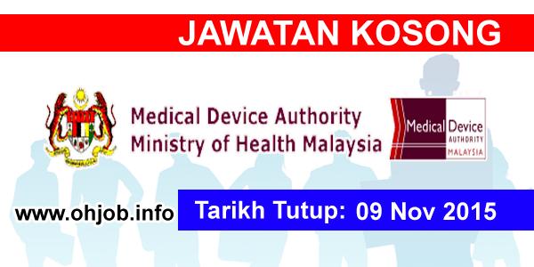 Jawatan Kerja Kosong Pihak Berkuasa Peranti Perubatan Kementerian Kesihatan Malaysia logo www.ohjob.info november 2015