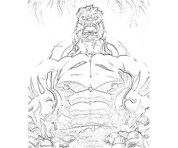 Marvel Red Hulk Coloring Page