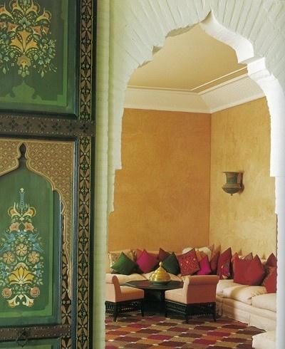 Dekorasyon b lg ler fas stili dekorasyon for Best arch designs living room