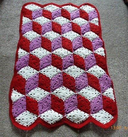 Baby Blocks Crocheted Afghan - Free Pattern