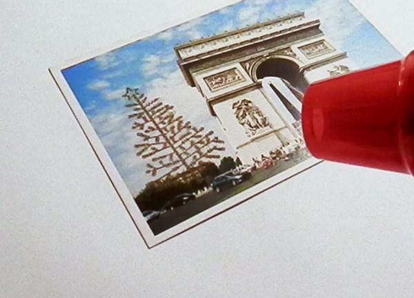 DIY : transformer des cartes postales en cartes de Noël